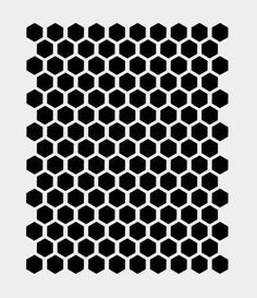 "1/2"" Honeycomb Stencil Hexagon Beehive Stencils Craft Template #1 8""X 10"""