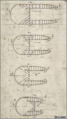 Pic. 11 Unidade de Habitación: Plano da estrutura dos piares. Le Corbusier, Architecture Plan, Sheet Music, Html, Wealth, Curves, Architecture, Contours, Bottles