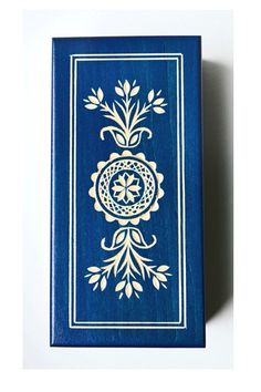 Polish Folk Art Box, wooden box, keepsake box, jewelry gift box