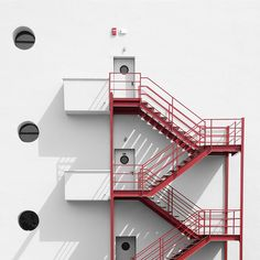 Fire stairs by piterart, via Flickr