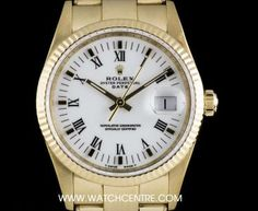 rolex s s oyster perpetual white roman dial date gents bp 15200 A Stainless Steel Oyster Perpetual Date Gents Wristwatch, white dial with roman numerals, date at 3 a fixed stainless steel smooth bezel, a - Watchcentre Used Rolex, Rolex Watches, Luxury Watches, Rolex Date, Oyster Perpetual, Vintage Rolex, Patek Philippe, Audemars Piguet, Breitling