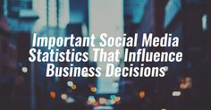 Social media stats you need to be aware of!