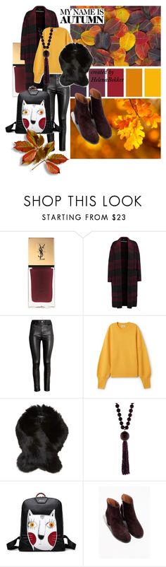 """#154 My Name is Autumn"" by helena-bekker ❤ liked on Polyvore featuring Yves Saint Laurent, Rochas, H&M, Yves Salomon and Silvia Furmanovich"