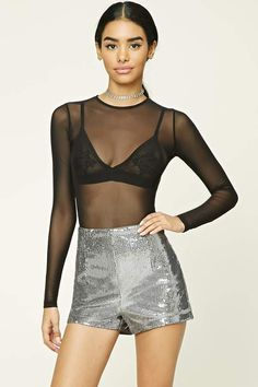 FOREVER 21 Metallic Sequin Shorts #partywear #nightout #sequin #shorts #fashion affiliate