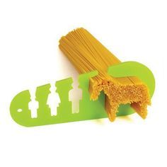 Here's another pasta measuring gadget but with a sense of humor! Are you feeding a horse? Or, perhaps just 2 adults and a child? The horse actually measures for 4 people, but I love the quirky way this was designed.