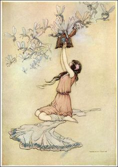 WATER BABIES.  Art by Warwick Goble 1913   by OldDrawingsAndPhotos