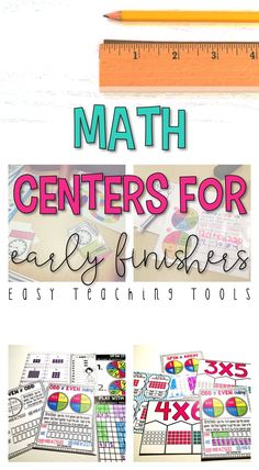 grade Math Centers for the Entire Year Bundle Centers} - Easy Teaching Tools 5th Grade Classroom, 2nd Grade Teacher, Second Grade Math, Classroom Ideas, Simple Math, Easy Math, Math Manipulatives, Teaching Tools, Teaching Ideas