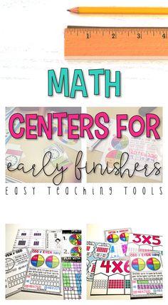 grade Math Centers for the Entire Year Bundle Centers} - Easy Teaching Tools 5th Grade Classroom, 2nd Grade Teacher, Second Grade Math, Kindergarten Classroom, Classroom Ideas, Simple Math, Easy Math, Math Manipulatives, Math For Kids