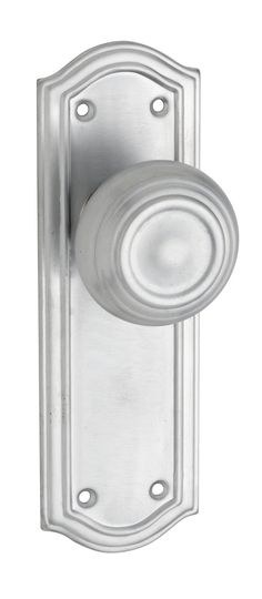Satin Chrome Kensington Passage Handle (Pair)