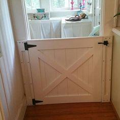 Rustic Dog/ Baby Gate Barn Door Style w/ side panels - dog kennel boarding Mobile Home Renovations, Barn Door, Paneling, Half Doors, Home Remodeling, Baby Gates, Panel Siding, Doors, Door Gate