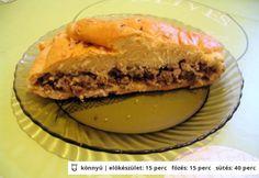 Hagymás-húsos pirog Meat Recipes, Pie, Cooking, Desserts, Food, Gastronomia, Torte, Kitchen, Tailgate Desserts