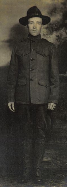 Another pic of Grandpa Johnson during World War I.