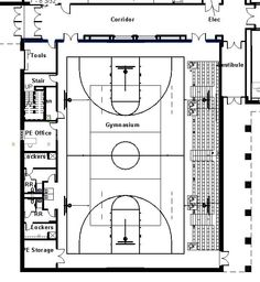elementary school building design plans | Protsman Elementary School - Design Concepts: Gym