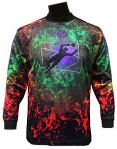 d184f54b0 Epic Hot Lava Custom Soccer Goalie Jerseys BLACK BLUE GREEN RED YS Epic
