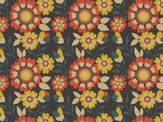 """1 9 7 0 s"" by hana* 1960, 1970, Day, Fabric, Floral, Flore, Flower, Fun, Garden, Green"
