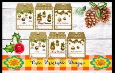 Printable Gift Tag,Christmas Tags, Cute Tags, Christmas, TAGNAVI-BELLA-104 de CutePrintableDesigns en Etsy