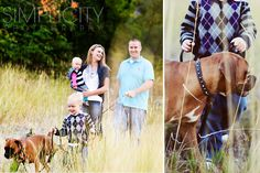 Love that the dog is in the family pics!!
