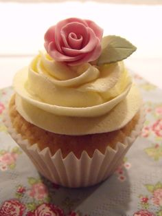 """Two of my favorite things: cupcakes and the colors pink and yellow together! This is """"my cup of cake"""" :)"""