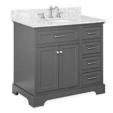 Image Result For Aria Bath Vanity Base Charcoal Gray 36 Top Carrara Marble Single Bathroom Vanity 36 Inch