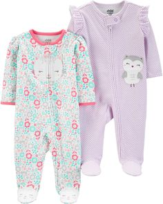 Shop for Baby Girls Clothing in Baby Clothes. Buy products such as Gerber Baby Boy or Girl Gender Neutral Pajamas Zip Front Sleep N Play Sleepers, at Walmart and save. Toddler Pajamas, Baby Girl Pajamas, Carters Baby Girl, Baby Girl Newborn, Baby Girls, Girls Toys, Toddler Fashion, Toddler Outfits, Baby Boy Outfits