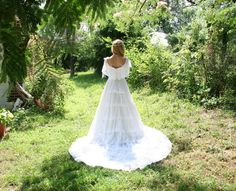 Vintage 70s 80s Wedding Dress / ALFRED ANGELO by RubyChicBoutique, $265.00