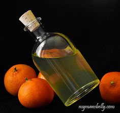 Homemade Triple Sec (made with everclear, vodka and tangerines)