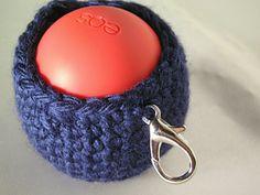 Yarn Projects, Crochet Projects, Crochet Yarn, Free Crochet, Eos Lip Balm, Lip Balms, Aran Weight Yarn, Yarn Thread, Crochet Accessories