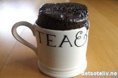Sjokoladekake i kopp - 5 minutter
