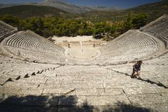 Epidaurus Theater Rv Campers, Campervan, Outdoor Furniture, Outdoor Decor, Greece, Building, Travel, Theater, Greece Country