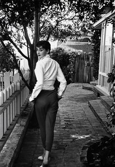 Audrey Hepburn At Her Beverly Hills Apartment | From a unique collection of black and white photography at https://www.1stdibs.com/art/photography/black-white-photography/