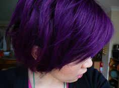 deep purple hair color image Deep Purple Hair Color Ideas