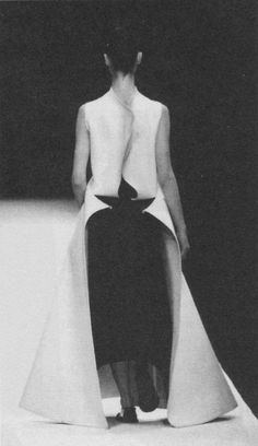 """[][][] """"I think clothes should be made from the back, and not the front. The back supports the clothes, and so if it is not properly made, the front cannot exist."""" - Yohji Yamamoto"""