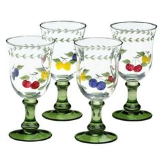 Villeroy & Boch Glassware, Set of 4 French Garden Cheer Water Goblets - Dinnerware - Dining & Entertaining - Macy's