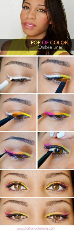 How To: Ombré Eyeliner | Awesome DIY Winged Eye Liner  For A Dramatic Looks by Makeup Tutorials http://makeuptutorials.com/how-to-apply-eyeliner-tips-styles/#
