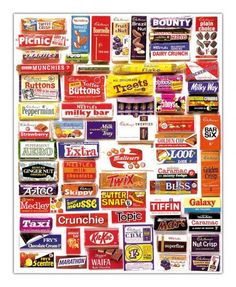 Vintage UK confectionery brands and packaging