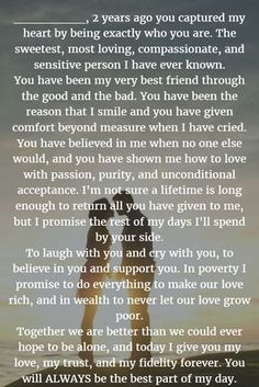 Wedding Quotes : Wedding Vows 22 Examples About How to Write Personalized Wedding Vows #Weddingsvows