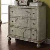 Coast to Coast Imports LLC 3 Drawer Chest - Would be fun to make something like this. Chest Of Drawers, Dining Room Console, Wayfair Furniture, Three Drawer Chest, Furniture, Cool Furniture, Sofa End Tables, Home Decor, Chic Furniture