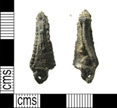 LON-943E53: A Medieval lead alloy incomplete pilgrim badge, this is a Tau badge dating to the 15th century.