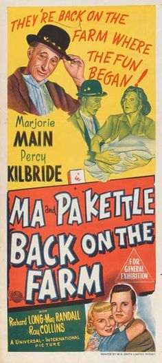 Ma & Pa Kettle on Pinterest | Classic Movies, Movie and Richard Long