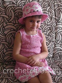 платье и шляпка для девочки