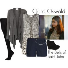 """""""Clara Oswald - The Bells of Saint John"""" by ansleyclaire on Polyvore"""