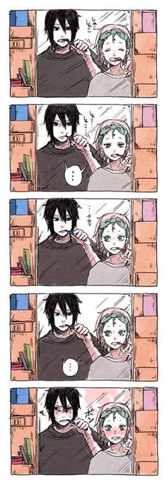 Sasusaku brushing teeth Part 2                                                                                                                                                      Más