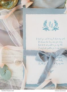 Stationery boasting a pastel blue shade was adorned with curvaceous typography in a brighter blue hue. Pretty Pastel, Pastel Blue, Wedding Stationery Inspiration, Wedding Inspiration, Dress Hairstyles, Wedding Hairstyles, Candle Warmer, Pastel Shades, Tulle Dress