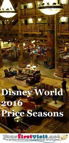 Projected Disney World 2016 Price Seasons - The Walt Disney World Instruction Manual --yourfirstvisit.net disney world #traveltips #disney