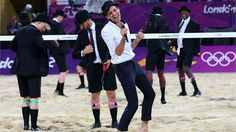 Artist Mika performs between games at the Women's Beach Volleyball on Day 12 of the London 2012 Olympic Games at the Horse Guard's Parade