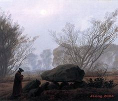 Twilight Walk, Casper David Friedrich