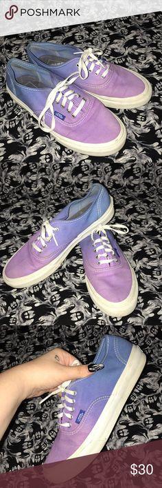 9630cd9d766 Blue   Purple Ombré Vans super cute blue to purple ombré vans. size 7.5  women s