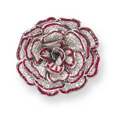 Exquisite Ruby and Diamond 'Camellia' Brooch, Rene Boivin