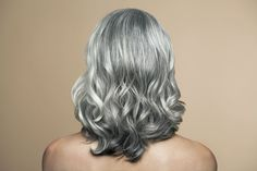 Grey hair -Why - Hair grows in a follicle, a bulb-like tube on your scalp. Hair in its basic, unpigmented state is white. It gets its color from melanin, a pigment that also determines skin color. Two types of melanin, eumelanin (dark brown or black) and phaeomelanin (reddish yellow), combine to make all the hair colors. One hypothesis for why hair goes gray is that aging slows or stops the hair from accessing the melanin, so it comes out gray, silver, or white instead.