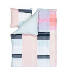 S&B Colour Block påslakanset, rosa